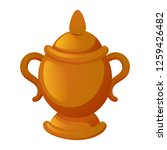gold vase icon. cartoon of gold ...