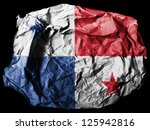 the panama flag painted on... | Shutterstock . vector #125942816