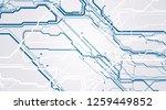 circuit board  digital chip... | Shutterstock .eps vector #1259449852