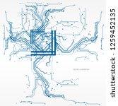 circuit board  digital chip... | Shutterstock .eps vector #1259452135