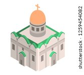 cathedral church icon.... | Shutterstock .eps vector #1259454082