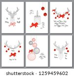 set of christmas greeting cards ... | Shutterstock .eps vector #1259459602