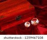 handmade mahogany jewelry box | Shutterstock . vector #1259467108