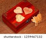 handmade mahogany jewelry box | Shutterstock . vector #1259467132