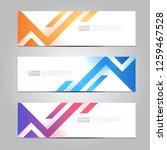 vector abstract design banner... | Shutterstock .eps vector #1259467528