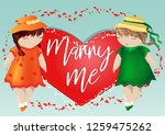 happy valentine's day. a pair... | Shutterstock .eps vector #1259475262