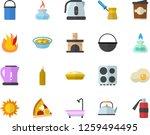 color flat icon set shower flat ... | Shutterstock .eps vector #1259494495