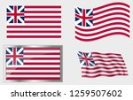 flag of the us grand union   | Shutterstock .eps vector #1259507602