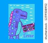 cute dinosaur drawn as vector... | Shutterstock .eps vector #1259508952