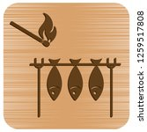 grilled fish icon. vector...   Shutterstock .eps vector #1259517808