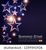 elegant stars background with... | Shutterstock .eps vector #1259541928