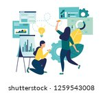 vector illustration  online... | Shutterstock .eps vector #1259543008