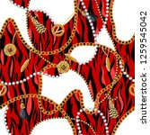seamless pattern with chains ... | Shutterstock .eps vector #1259545042