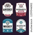 vector vintage whiskey and... | Shutterstock .eps vector #1259546002