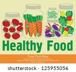 healthy food card design.... | Shutterstock .eps vector #125955056