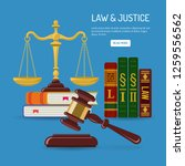 law and justice concept with... | Shutterstock .eps vector #1259556562