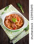 meat and vegetables stew | Shutterstock . vector #125955695