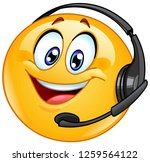 costumer support emoticon with... | Shutterstock .eps vector #1259564122
