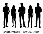 set of vector silhouettes of ... | Shutterstock .eps vector #1259570905