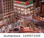 busy intersection in city at... | Shutterstock . vector #1259571535