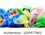 colour garbage plastic bags on... | Shutterstock . vector #1259577862
