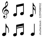 music notes icons set. vector... | Shutterstock .eps vector #1259588932