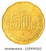 50 Mexican Peso Cents Coin...
