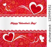 valentines day greeting card... | Shutterstock .eps vector #125959352