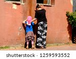 kid playing hide and seek | Shutterstock . vector #1259593552