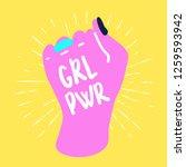 girl power. cartoon hand on... | Shutterstock .eps vector #1259593942