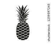pineapple icon. summer and... | Shutterstock . vector #1259597245
