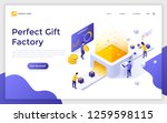 landing page with people...   Shutterstock .eps vector #1259598115
