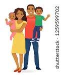 parents with newborn baby girl... | Shutterstock .eps vector #1259599702