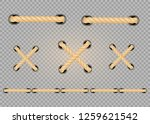 nautical rope. round and square ... | Shutterstock .eps vector #1259621542