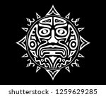 ancient god face vector... | Shutterstock .eps vector #1259629285