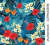 seamless floral pattern green... | Shutterstock .eps vector #1259633848