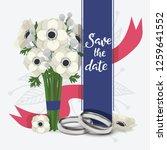 wedding rings vector wed shop... | Shutterstock .eps vector #1259641552