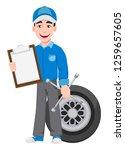 professional auto mechanic in... | Shutterstock .eps vector #1259657605