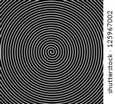 black and white hypnotic vector ... | Shutterstock .eps vector #125967002