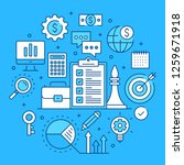 business strategy  business... | Shutterstock .eps vector #1259671918