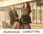happy young fashion couple... | Shutterstock . vector #1259677798