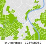 editable vector street map of... | Shutterstock .eps vector #125968052