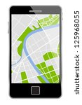 vector smartphone with map... | Shutterstock .eps vector #125968055