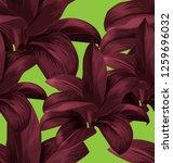 tropical  leaves vector... | Shutterstock .eps vector #1259696032