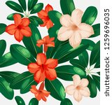 seamless floral pattern with... | Shutterstock .eps vector #1259696035