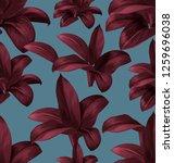 tropical  leaves vector... | Shutterstock .eps vector #1259696038