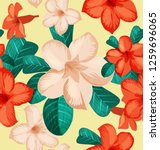 seamless floral pattern with... | Shutterstock .eps vector #1259696065