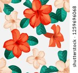 seamless floral pattern with... | Shutterstock .eps vector #1259696068