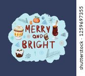 merry and bright hand lettering ... | Shutterstock .eps vector #1259697355