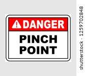"plate  ""danger. pinch point"".... | Shutterstock .eps vector #1259702848"